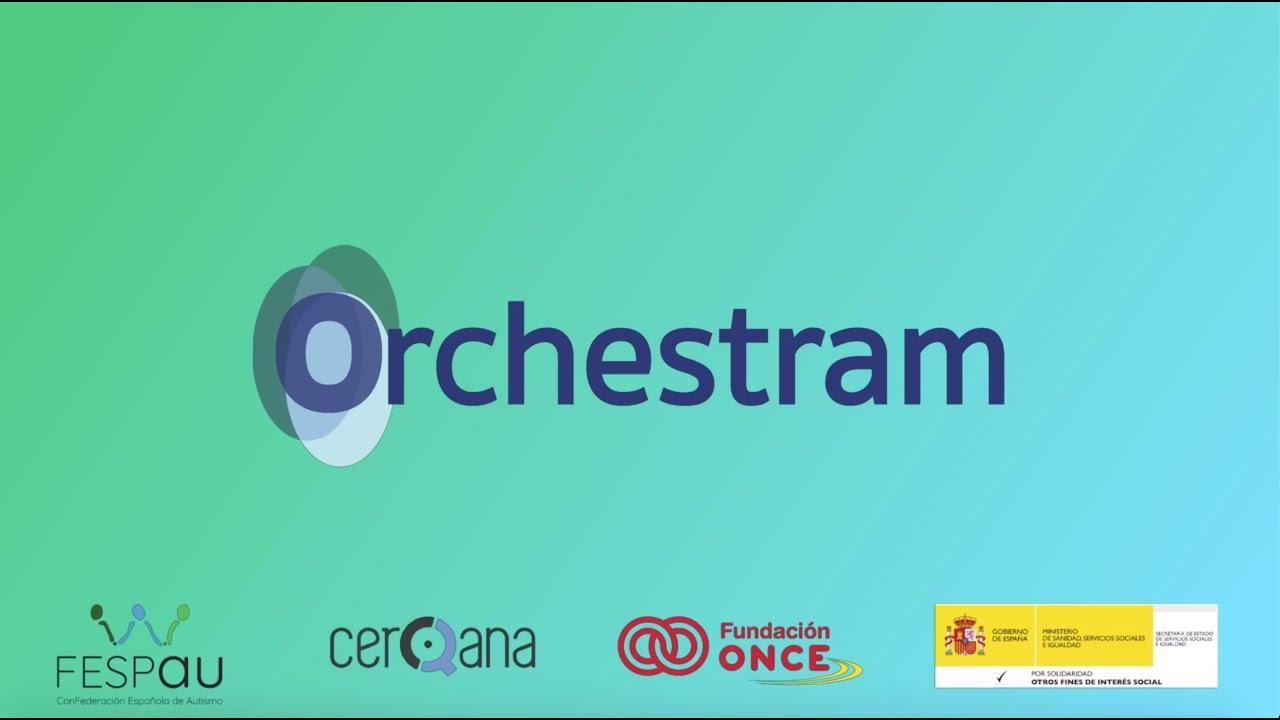 Logo ORCHESTRAM con desarrolladores y financiadores de la apliación