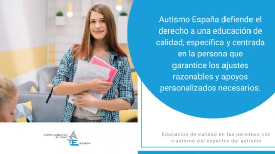 Autismo España Educación