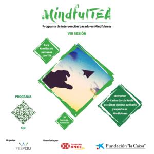 Cartel de la formación MindfulTEA Módulo para padres y madres